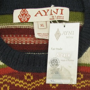 etiqueta ayni bolivia tela papel