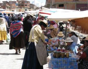 Feria postres El Alto Bolivia